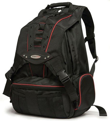 Mobile Edge Black w/Red Trim Premium Large Size 17.3 inch PC's Laptop Backpack Cool-Mesh Ventilated