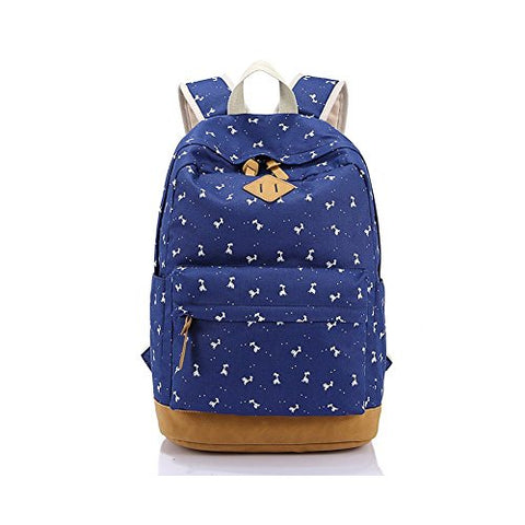 S Kaiko Canvas Backpack School Bakcpack School Bag Daypack Teenager Rucksack