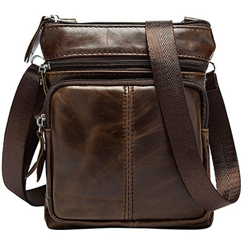 Berchirly Small Vintage Real Leather Travel Shoulder Bag Crossbody Handbag