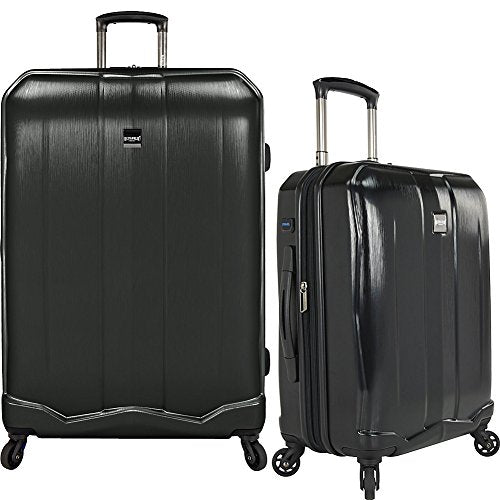 U.S Travelers Piazza 2-Piece Lightweight Expandable Luggage Set - Black (22-Inch and 30-Inch)