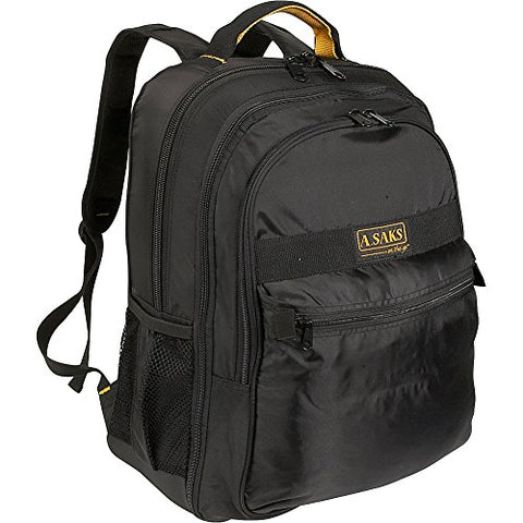 A. Saks EXPANDABLE Laptop Backpack - Black