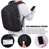 Tzowla Business Laptop Backpack Water Resistant Anti-Theft College Backpack with USB Charging
