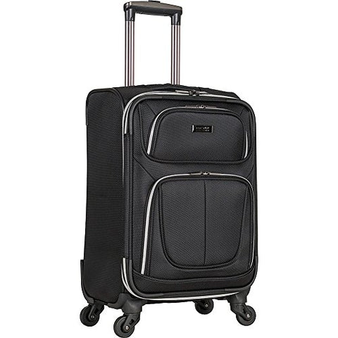"Kenneth Cole Reaction Lincoln Square 20"" 1680d Polyester Expandable 4-Wheel Upright, Black"