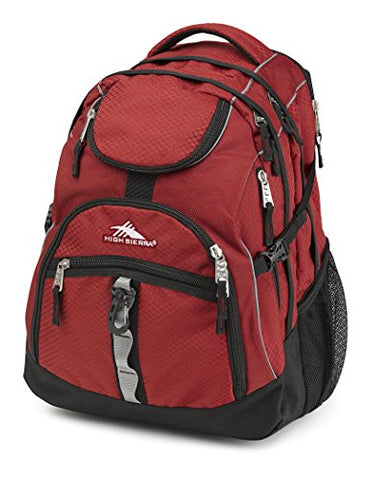 High Sierra Access Laptop Backpack, Brick/Black