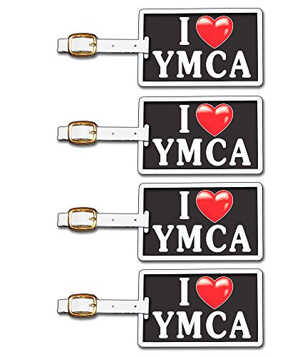 Tag Crazy I Heart Ymca Four Pack, Black/White/Red, One Size