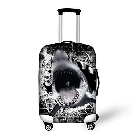 "Bigcardesigns Shark Dust-proof Travel Luggage Covers for 26""-30"" Suitcase Elastic"