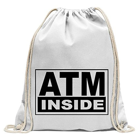 ATM inside Fun sport Gymbag shopping cotton drawstring
