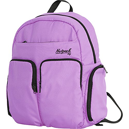 Netpack Soft Lightweight Day Pack with RFID Pocket (Purple)