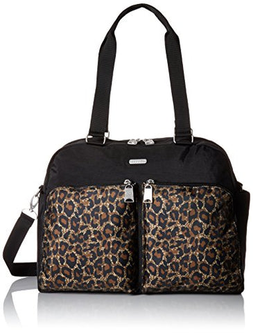 Baggallini Women's Travel Duffel, wild cheetah multi