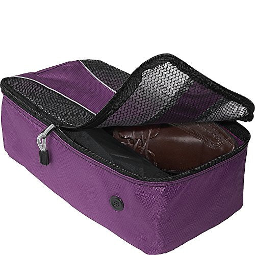 eBags Shoe Bag - Travel Packing Cube for Shoes - (Eggplant)