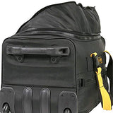 A. Saks EXPANDABLE 20 Rolling Trolley Duffel - Black