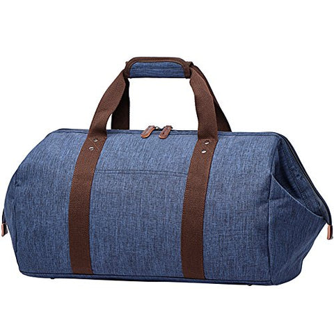 Berchirly Mens Messenger Bags Waterproof Business Travel Duffel Weekender Bag Blue