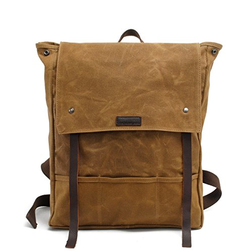 New, retro, trend, personality, oil wax waterproof, canvas bag, travel backpack, B0034