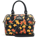 Loungefly x Marvel Black Panther Floral Duffel Purse (One Size, Multicolored)