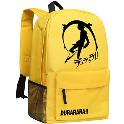 Gumstyle Drrr Durarara Backpack Anime School Bag Classic Schoolbag Yellow