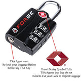 Forge Tsa Lock 6 Pack - Open Alert Indicator, Easy Read Dials, Alloy Body