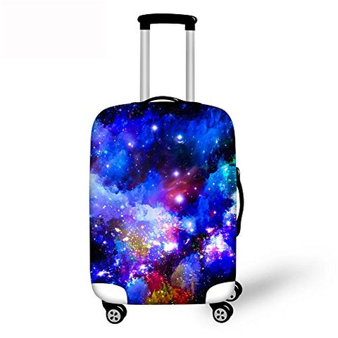 Thikin 18/20/24/28 Inch Travel Luggage Protective Cover Classic Galaxy Design