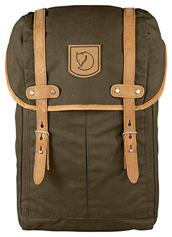 "Fjallraven - Rucksack No. 21 Small Backpack, Fits 13"" Laptops, Dark Olive"