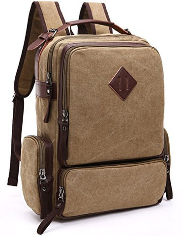 Aidonger School Bag Laptop Backpack for Teen Girls (Khaki)