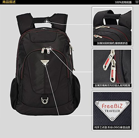 FreeBiz School, Business, Travel & Sports Water Repellent High Density Polyester Laptop Backpack