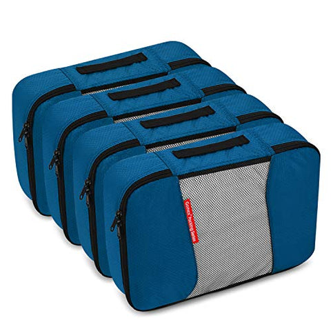 Packing Cubes Travel Organizer Cubes for Luggage 4xMedium Deep blue