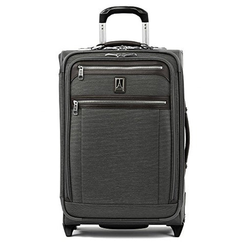 "Travelpro Luggage Platinum Elite 22"" Carry-On Expandable Rollaboard With Usb Port, Vintage Grey"