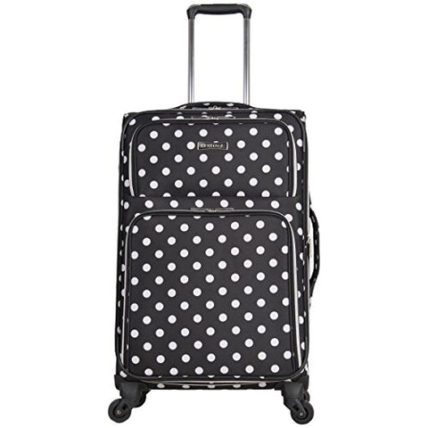 "Heritage Travelware Albany Park 24"" 600d Polka Dot Polyester Expandable 4-wheel Spinner Checked"