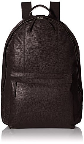 Cole Haan Men's Pebble Leather Backpack, Chocolate, One Size
