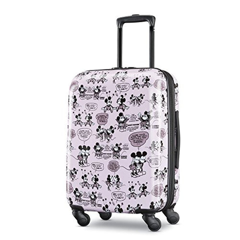 American Tourister Disney Mickey and Minnie Romance Hardside Carry On Luggage with Spinner