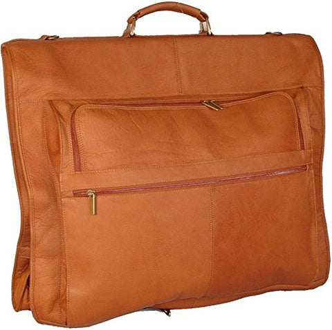 "David King Leather 42"" Deluxe Garment Bag In Tan"