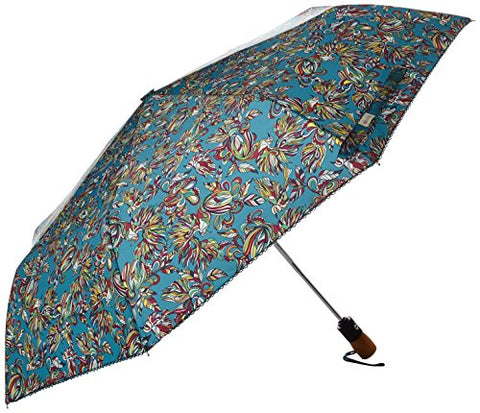 Sakroots Artist Circle Umbrella, Teal Treehouse