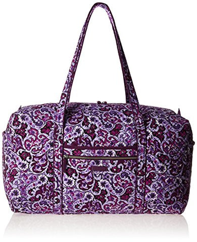 Vera Bradley Women's Iconic Large Travel Duffel-Signature, Lilac Paisley, One Size