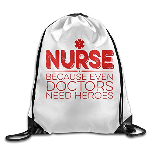 For Nurse Heroes Only Drawstring Backpack Beam Port Bag Drawstring Beam Port Backpack