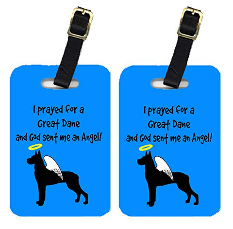 Caroline's Treasures AN1080BT Pair of 2 Great Dane Luggage Tags, Large, multicolor