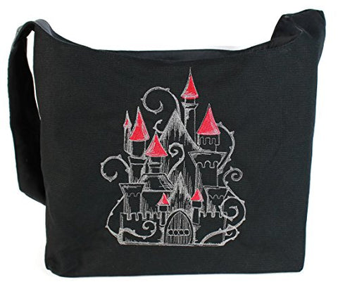 Dancing Participle Enchanted Castle Embroidered Sling Bag