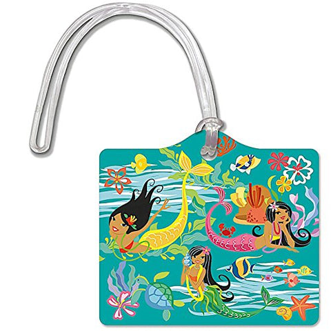 Die Cut Id Luggage Tag Island Hula Mermaids
