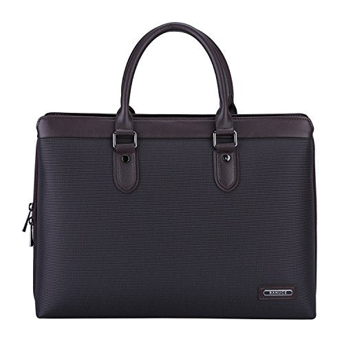 "Banuce Mens Slim Waterproof Nylon 14"" Laptop Messenger Bag Business Tote Briefcase Shoulder Attache"