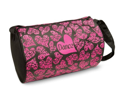 Dansbagz By Danshuz Lace Of Hearts Duffel Bag O/S Pink