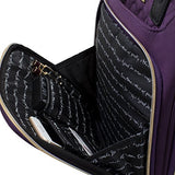 "Kensie 16"" Under Plane Seat Luggage Tote, Purple With Gold Color Option"
