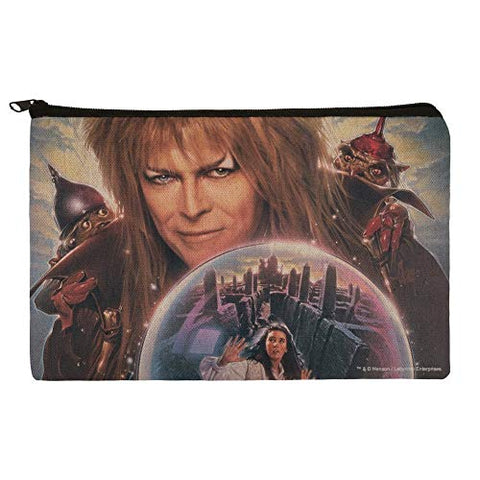 Labyrinth Crystal Ball Goblin King Jareth David Bowie Makeup Cosmetic Bag Organizer Pouch