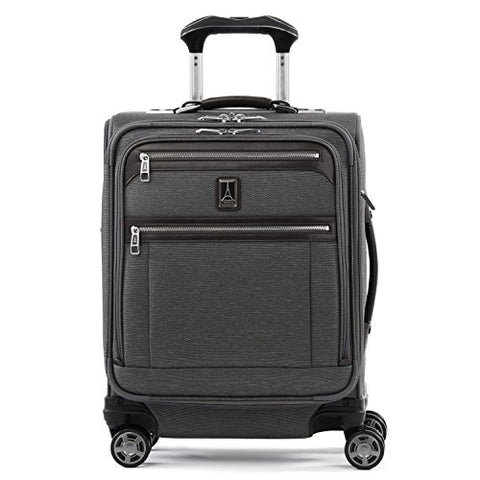 "Travelpro Luggage Platinum Elite 20"" Carry-On Intl Expandable Spinner W/Usb Port, Vintage Grey"