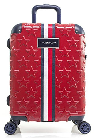 "Tommy Hilfiger Starlight 21"" Expandable Hardside Spinner, Red"
