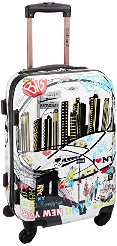 Rockland Luggage 20 Inch Polycarbonate Carry On, Newyork, One Size