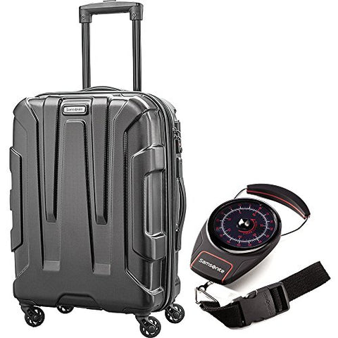"Esamsonite Centric Hardside 28"" Luggage Black (102690-1041) With Samsonite Portable Luggage Scale"