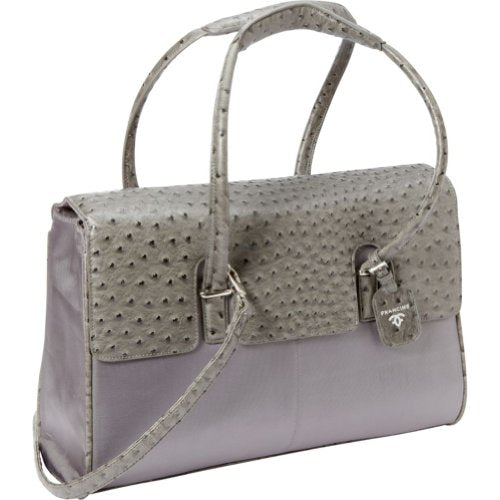 "Women In Business Francine Collection - 15.6"" Gray Ostrich London Laptop Case"
