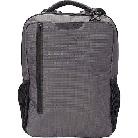 "Kenneth Cole Reaction Dual Compartment 15.6"" (RFID) Laptop Backpack Charcoal One Size"