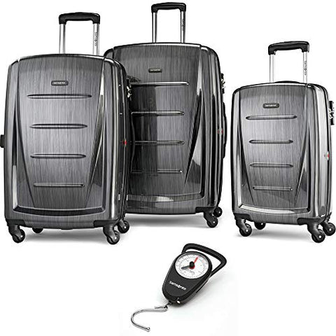 Samsonite Winfield 2 Fashion Hardside 3 Piece Spinner Set Charcoal Bundle Manual Luggage Scale