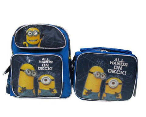 "Despicable Me 2 Minion 12"" Backpack & Lunch Box - All Hands On Deck!"