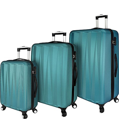 Elite Luggage Verdugo 3 Piece Hardside Spinner Luggage Set (Teal)