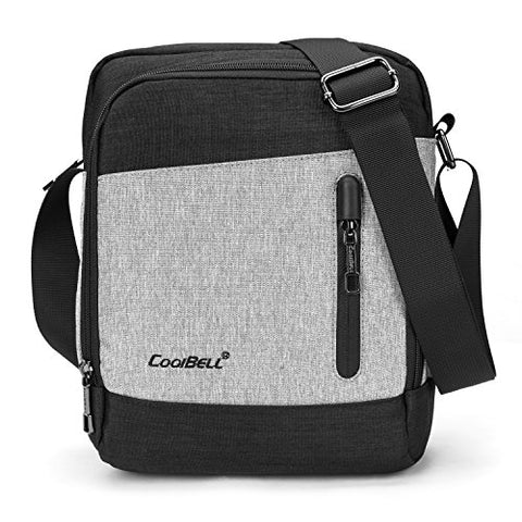 Coolbell Shoulder Bag Crossbody Pouch Satchel Bag Student Messenger Bag Fits 10.6 Inches Tablet /